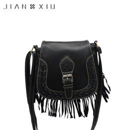 372bb7bf47f51 JIANXIU Quaste Mini Frauen Messenger Bag Weiche PU weibliche PU-Leder  Vintage Crossbody Taschen rabatt mini tassel pu crossbody tasche