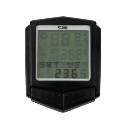Monitores de computadora profesional online-Profesional Velometer inalámbrico Ordenador de bicicleta Impermeable Monitor de ritmo cardíaco Cadencia LCD Ordenador de bicicleta Odómetro Velocímetro