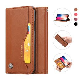 Wholesale iphone book style - Classic Business Style Mobile Phone PU Leather Wallet Case For iPhone X Book Design Stand Cases With Card Slot