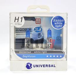 H1 супер белый онлайн-2pcs H1 автомобиля света Галогенные лампы Первоначально светильник качества Немецкий 12V 55W 100W Супер белый свет