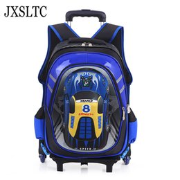 wheeled trolley backpacks Promo Codes - Kids School Bags on Wheels Trolley School Backpacks Wheeled Backpack Kid's Rolling Backpack for Boy Children Travel Bags