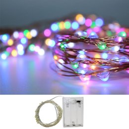 Wholesale Purple Ball Lamp - String Fairy Light 2M 20LED Xmas Wedding Party Lamp Garden 3*AA Battery Operated 4.5V IP65 Waterproof