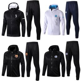 Wholesale Quick Tracks - 2017 18 Barcelonas paris adult With a hat Jacket Barcelonaes Tracksuits top quality Saint 17-18 cavani di maria Training suit Germain Track