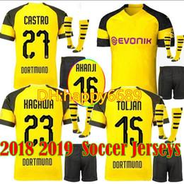 b0b242000 2018 Dortmundes 18 19 home yellow soccer jersey Men Kits + Socks AUBAMEYANG  GOTZE DEMBELE PULISIC REUS MOR SAHIN away third football shirt