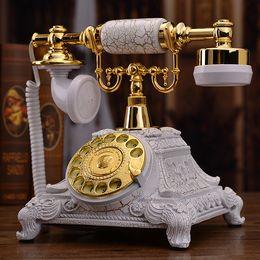 2019 telefone de casa rosa quente Europeu antigo telefone rotativo retro casa landline telefone criativo telefone moda telefone antigo