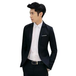 Chaqueta para hombre de un botón de la marca de moda de un botón estilo informal de negocios chaqueta de traje slim fit Blazers masculinos abrigo Terno Masculino desde fabricantes