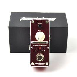 Effets de distorsion de guitare en Ligne-Pédale d'effet guitare Fuzz Vintage Germanium Aroma AGF-3 en alliage d'aluminium