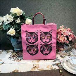 Wholesale fringes bag - High quality Cat Fashion Brand Bag fashion fringe single shoulder bag women's high quality canvas handbag new mommy bags