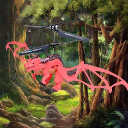 2019 летающий вертолет игрушечный пульт Remote Control Dinosaur Helicopter Flying Dinosaur Mini RC Drone Toys Children Gift RC Animal Toy скидка летающий вертолет игрушечный пульт
