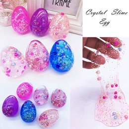 Wholesale scented crystals - Crystal Slime Egg Clear Putty Colorful Mucus Eggs Scented Stress Relief Toy Sludge Toys Fun Pack Of 24 AAA121