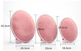 2019 stands de fábrica por atacado Exibição de jóias de veludo brinco Exibição de armazenamento preto cor rosa mais tamanho para a escolha frete grátis estilo quente