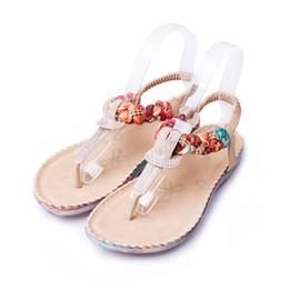 Wholesale Ladies Summer Footwear Sandals - Summer Women's Sandals Bohemia Gladiator Sandal Women Shoes Flip Flops Sandalias Mujer Ladies Shoe Fashion Female Footwear BT538