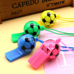 Wholesale world ball toy - Plastic Football Whistles World Cup Football Referee Whistle Cheering Props Fans Supplies Toys Wholesale Football Model Ball Sentry G547R