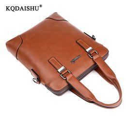 8143dc712b KQDAISHU brand new qualità degli uomini borsa tote per la moda business  casual borse da uomo borsa pu cuoio uomo verticale tote borse tote verticale  ...