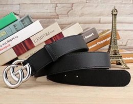 Wholesale red pearl g - Classic men's women's 100cm-120cm large pearl G buckle and G colorful crystal buckle leather belt without NO box 128