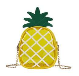 Wholesale mini jelly bags - MINI Pineapple Jelly Chain Phone bag Candy Transparent Cross body handBag travel outdoor coin comestic bag FFA613 50PCS