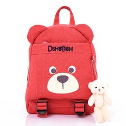 Wholesale School Bags Girls Princess - 2018 New Children Cartoon Bear Princess School Bags Girls Kindergarten Backpack Baby Backpack Bag