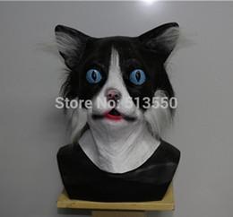 Venda quente Full Face Traje Do Partido Látex Realisic Especial Máscara Do Gato para o Carnaval de Halloween de Fornecedores de óculos linhas amarelas