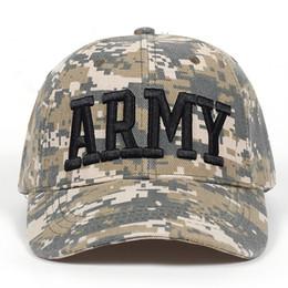 Männer armeekappen online-2018 Tactical Cap Mens Camouflage Baseballmütze Armee Hysteresenkappen Casquette ARMEE Muster Trucker Knochen Garros