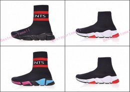 Wholesale Fabric Thigh High Boots - Speed stretch-knit Mid sneakers,Vetements Sock Boots,Runner Ultraknit,form-fitting Training sports socks,Black Stretch-Knit Thigh-High Shoes