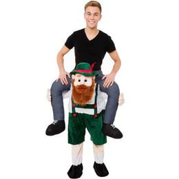 Pantaloni fantasia online-New Halloween Orso Orangutan Pig Farcito Carry Back Ride On Mascot Fancy Dress Up Costume Party Vestito per adulto Carry Pants BS
