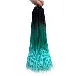 2019 cheveux gris, racines brunes Cheveux Mtmei 24 pouces Ombre Sénégalais Twist Hair 20 Racines / pack Tresses en crochet Cheveux synthétiques tressés pour femmes gris, bonde, rose, marron cheveux gris, racines brunes pas cher