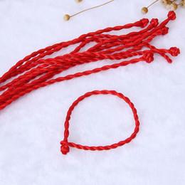 accesorios étnicos al por mayor Rebajas 10 UNIDS preparación de la Mano Cadena Roja Cabalá Pulseras Étnico Cuerda Roja Cordón al por mayor estilo étnico Accesorios Joyería