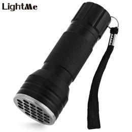 Wholesale Glue Aluminum - Lightme 21 LEDs UV Ultra Violet Flashlight Torch Aluminum Alloy 395-410nm UV Glue Curing Invisible Ink Marker Lamp