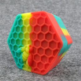 caixa de silicone dab Desconto 50 PCS / DHL Silicone Non Stick Jars Dab Recipiente Caso Silício para Vaporizador Óleo Sólido 26 ML FDA Food Grade Silicone Box Wax Recipiente