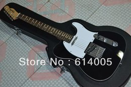 Wholesale guitars tele - Free shipping New style F TELE telecaster BLACK electric guitar in stock 6 strings guitar with case In Stock