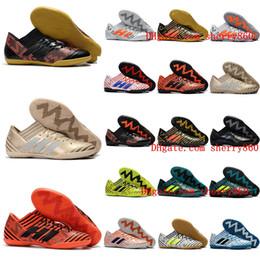 Homens sapatos de futebol de interior on-line-2018 mens chuteiras purecontrol turf tango nemeziz 17 chuteiras de futebol barato botas de futebol homens Nemeziz Tango 17.3 IC TF Original