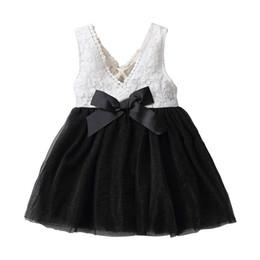Frete grátis 2018 meninas vestido de natal crianças roupas de verão sem mangas lace tutu dress coreano moda bow dress vendas por atacado cheap kids dresses wholesales de Fornecedores de vestidos dos miúdos por atacado