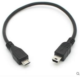 2019 câble mini usb de type b Micro USB Type B mâle vers mini USB Type B mâle Hôte OTG Adaptateur Câble cordon nouveau câble mini usb de type b pas cher