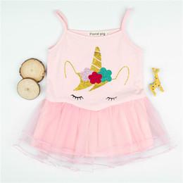 INS Licorne Tutu Robe Licorne Imprimé Sans Manches Rose Fille Bébé Bébé Nouveau-Né Gilet Jupe Princesse Robes D'été Vêtements nouveau ? partir de fabricateur
