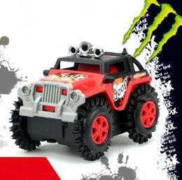 puzzles de camion de jouet Promotion Stunts électrique voiture de jouet Flip New enfants Cartoon Puzzle jouet camion à benne basculante 3-6 ans modèle de voiture