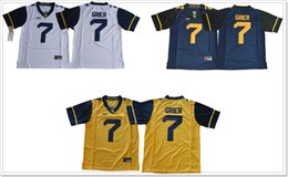 Wholesale pro sports football - West Virginia Mountaineers #7 Will Grier Mens Vintage College team American Football Pro Sports Jerseys Shirts Uniforms Stitched Embroidery