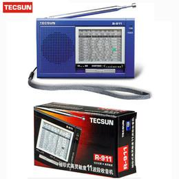 receptor de rádio digital de banda mundial Desconto Tecsun R-911 Rádio Mundo Banda Rádio Receiver Multibanda Alta Sensibilidade Digital Receiver Digital Demodulação Estéreo