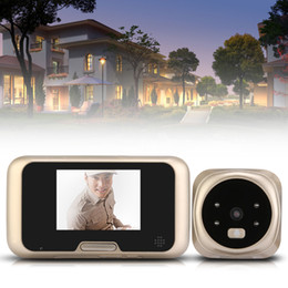 Wholesale Door Eye Camera Lcd - 3.2 inch HD Digital LCD Peephole Viewer Door Magic Eye Doorbell Color IR Camera Night version TFT LED Display Screen