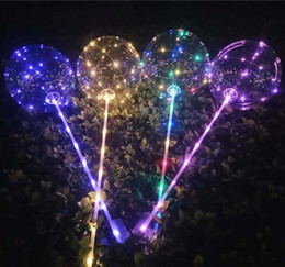 Wholesale Led Festival Decorative Lights - BOBO Ball Balloon Luminous LED Transparent Colorful Light BOBO Balloon Kids Birthday Wedding Festival Party Decorative Free Shipping 983