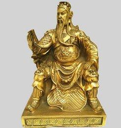 """11.8/"""" Tibetan Buddhist Brass carved vajraki la Vajra Buddha Statue"""