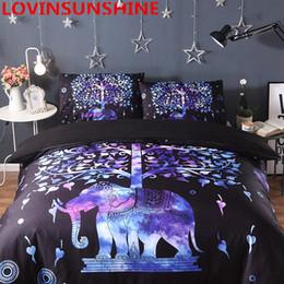 hojas de impresión jirafa Rebajas elefante bohemio duvet cover set 2 piezas cama individual Doble Queen Rey de cama de impresión de lino púrpura del elefante conjunto conjuntos de cama 3d