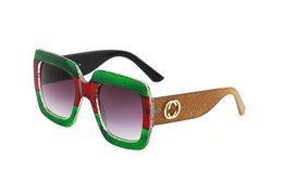 Wholesale Diamond Vintage - 2018 Luxury Square Sunglasses Women Italy Brand Designer Diamond Sun glasses Ladies Vintage Oversized Shades Female Goggle Eyewear