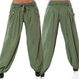 pantaloni bassi capris Sconti Leggings da palestra a vita bassa da donna Pantaloni sportivi a sette leggings Pantaloni a quadretti Larghi per le gambe Casual Yoga Capris per le ragazze