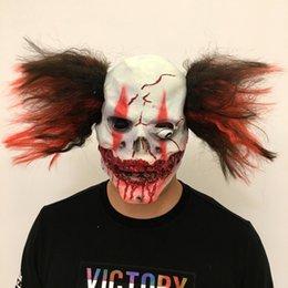 2019 зомби-маски 2018 взрослый ужас кровавый зомби косплей Хэллоуин Маска с волос партии бар костюм реквизит дом с привидениями украшения дешево зомби-маски