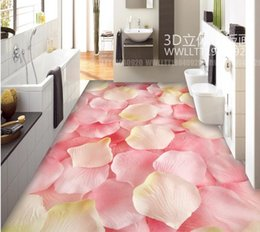 Wholesale Full House Wallpaper - Romantic full house petal bedroom 3D floor 3d flooring for living room and bedroom