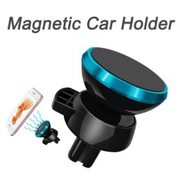 Wholesale Magnetic Car Box - Universal Car Holder For Iphone X 8 Car Mount Air Vent Magnetic Phone Holder 360 Degree Rotation Mini Car in Box