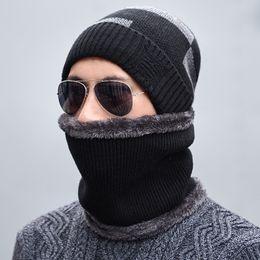 Seioum chapéu de inverno cachecol skullies gorros para homens chapéu de malha mulheres máscara balaclava grosso earflap gorro de lã gorro masculino chapéus cap cheap wool balaclava de Fornecedores de balaclava de lã