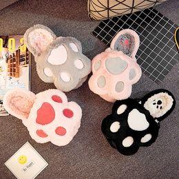 Lindas zapatillas de oso online-Cute Bear Paw Zapatillas de interior para mujer Zapatos de color rosa cálido gris Zapatilla de casa de algodón Mujer Pantufa Invierno Zapatos básicos