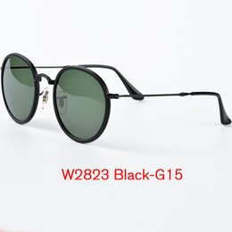 Wholesale Summer Sunglasses For Men - Top Quality Summer Pilot Sunglasses for Men Women Gafas de sol oculosQuality Rey band Sunglasses Metal Folding Fram