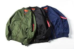 Wholesale Neck Patch - Large Size Europe Style Ma-1 Jacket Autumn Men Jacket Loose Casual Men's Coats Thin Piolt Jackets Clothing